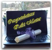 Congratulations Reiki Master